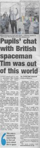 Southend Echo Tim Peake newspaper story