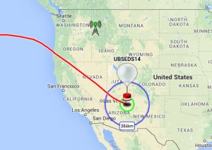 UBSEDS14 balloon track as at 19:02 GMT March 17, 2016
