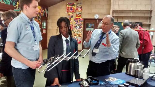 Amateur Radio was explained to Wellesley House School students by RSGB Youth Committee member Oscar Hall 2E0SWE and DRM Keith Bird G4JED - Credit RSGB