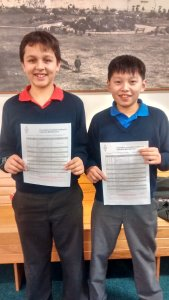 Wellesley House students Ethan M6GQK and Benny M6YZH passed their Amateur Radio Foundation exam for the contact - Credit Hilderstone Radio Club