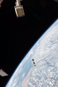 Deployment of two NODES satellites and STMSat-1