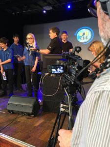 Rehearsal at The Kings School for Tim Peake contact - Credit GES Ltd