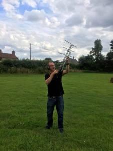 David Rowntree 2E0DRV communicating via Amateur Radio Satellite