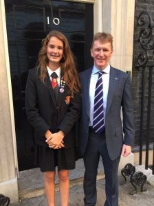Jessica Leigh M6LPJ with Tim Peake GB1SS - Credit Richard Found