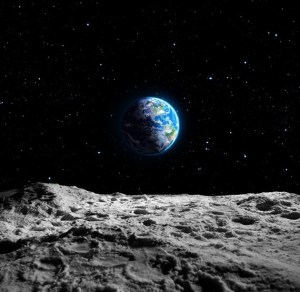 View of Earth from the Moon AdobeStock_77398324
