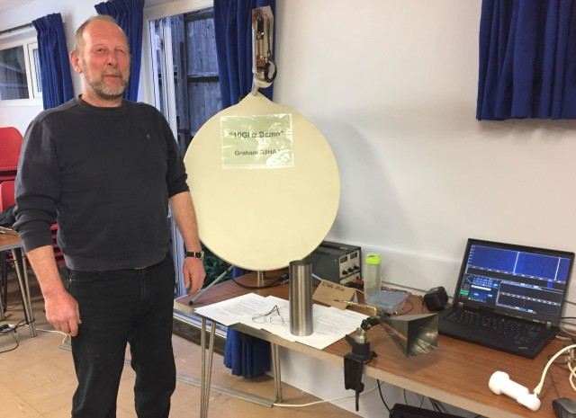 Graham G8HAJ demonstrating 10 GHz SSB