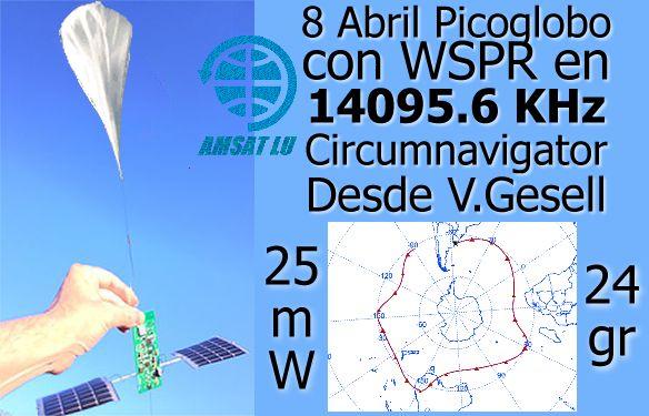 Picoglobo Amateur Radio WSPR Balloon