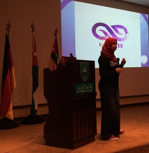 Aya Jaafari at IEEE Day 2016 event in Amman, Jordan