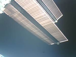 Image of ISS Solar Panels taken by LilacSat-1 just after deployment
