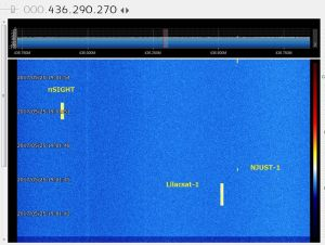 LilacSat-1 signal received by JA0CAW