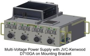 Multi-Voltage Power Supply with JVC-Kenwood D710GA on mounting bracket