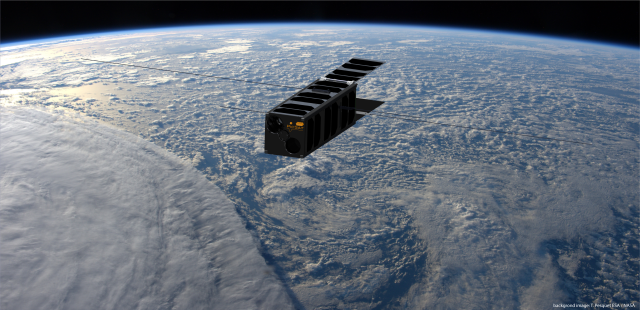 Artist's impression of PicSat in space