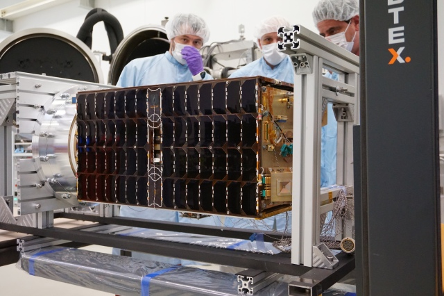 ESEO satellite in clean room