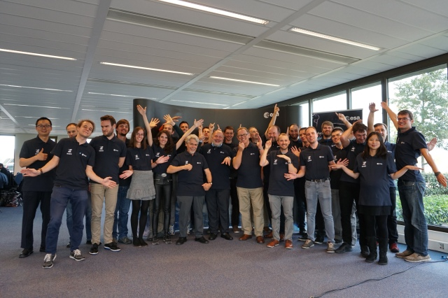 Happy ESEO students and AMSAT-UK members