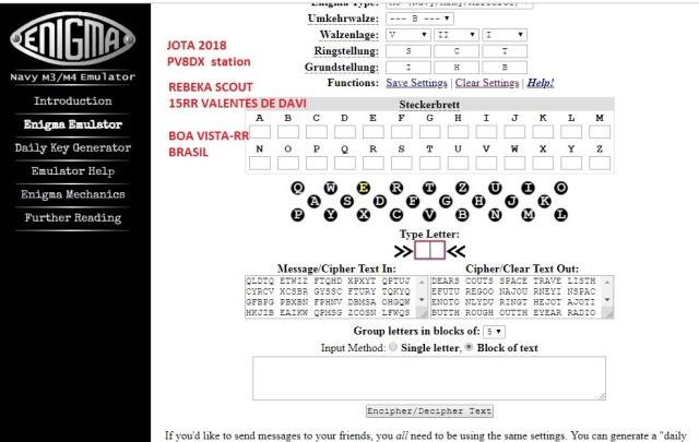 JOTA 2018 PV8DX - Scout Rebeka - 15RR Valentes de Davi