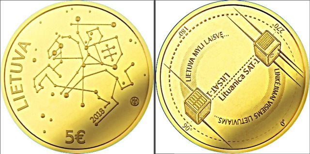 Lithuania 5 Euro Gold Coin 2018