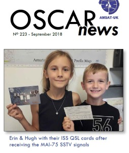 OSCAR News 223 Autumn 2018 Front Cover