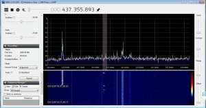 ESEO 437.040 MHz beacon received by Surrey Space Centre