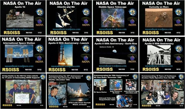 Complete set of SSTV pictures received from the ISS by DK3WN Feb 8-10, 2019