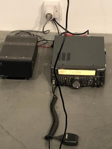 Kenwood TS-2000 used in Ten Minute Transmission at Tate Gallery - image credit Matthew Rose 2E0LJZ