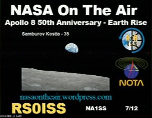 NOTA ISS SSTV image received by Peter Goodhall 2M0SQL February 10, 2019