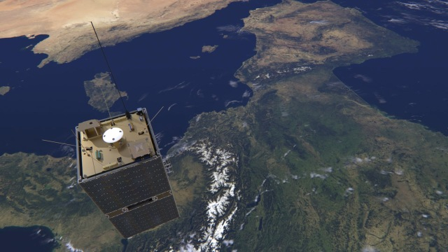 Artist impression of ESEO flying over Europe - credit ESA