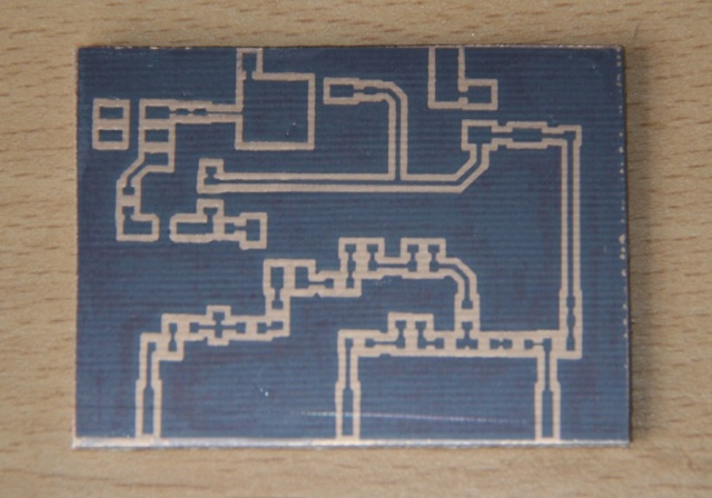 Figure 2 Homemade PCB ready to be etched