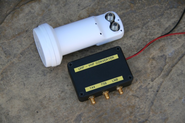 Figure 4 Completed downconverter with Octagon LNB