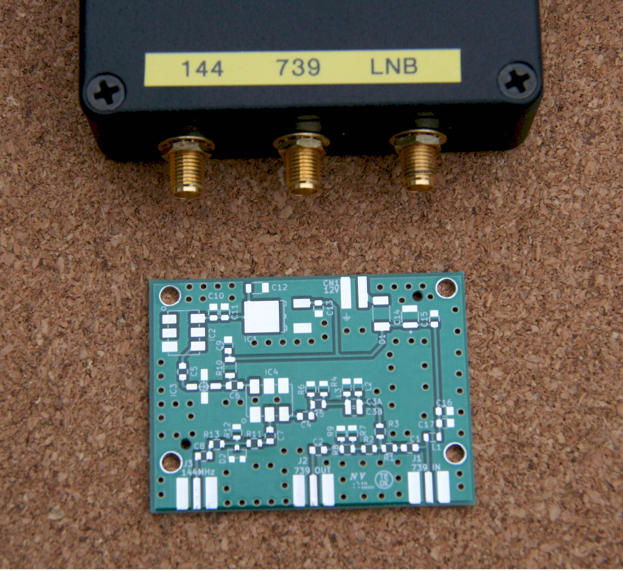 G0MRF UHF-VHF Receive Converter for use with a satellite LNB