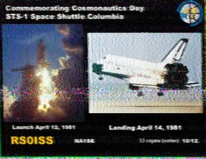 ISS SSTV image 10 received by Rajesh VU2EXP