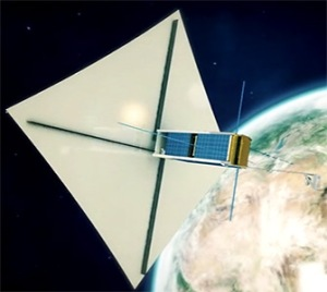 Taurus-1 with solar sail deployed