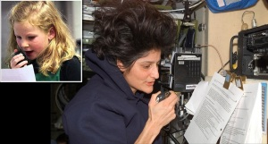 ISS astronaut Sunita Williams KD5PLB answers questions from a student using amateur radio