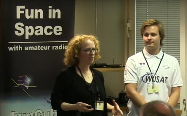 Professor Julia Hunter-Anderson talking about WUSAT-3
