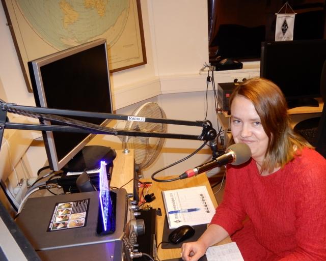 Elín Sigurðardóttir TF2EQ operating TF3YOTA on QO-100