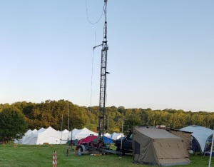 Amateur Radio Mast at EMF 2018