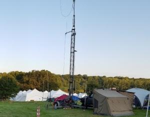 Amateur Radio Mast at EMF 2018