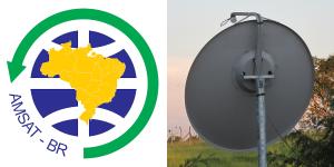 AMSAT-BR Logo and Dish Antenna