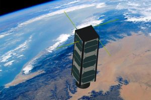 CubeSat in Space - Image Credit University of Maine WiSe-Lab